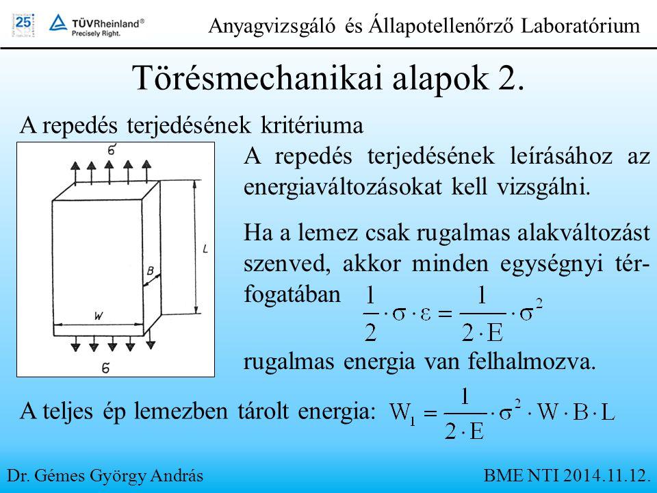 Törésmechanikai alapok 2.