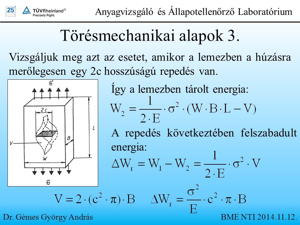 Törésmechanikai alapok 3.