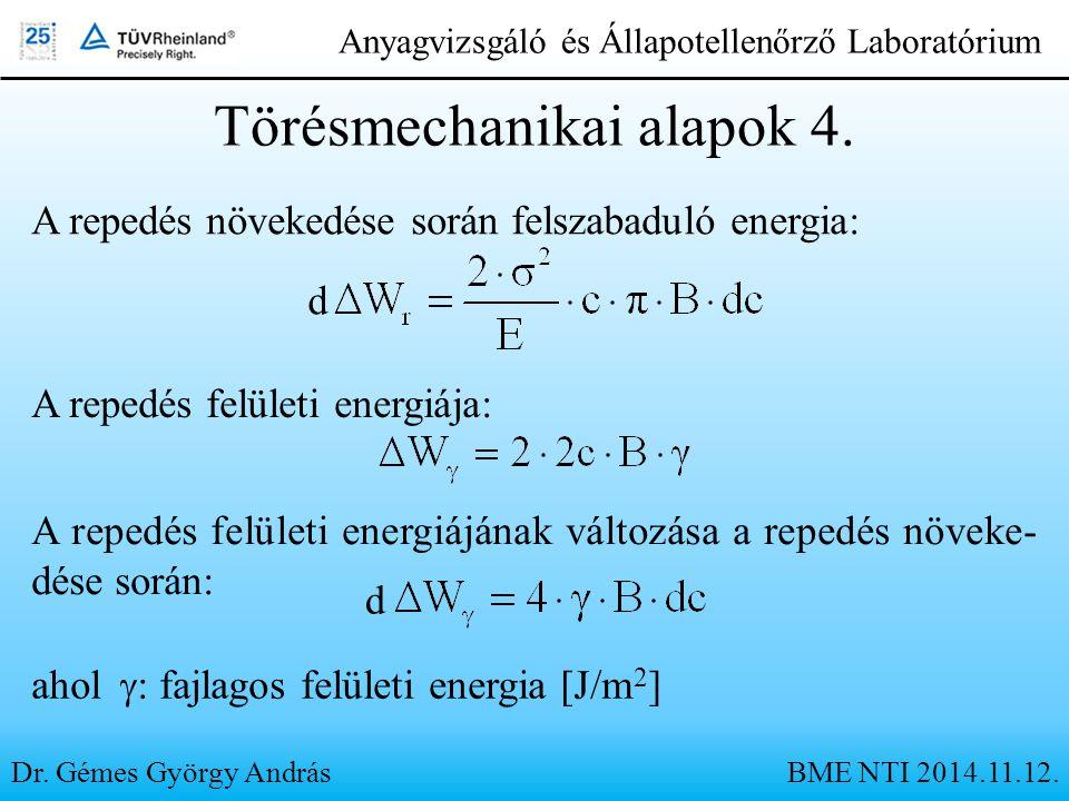 Törésmechanikai alapok 4.