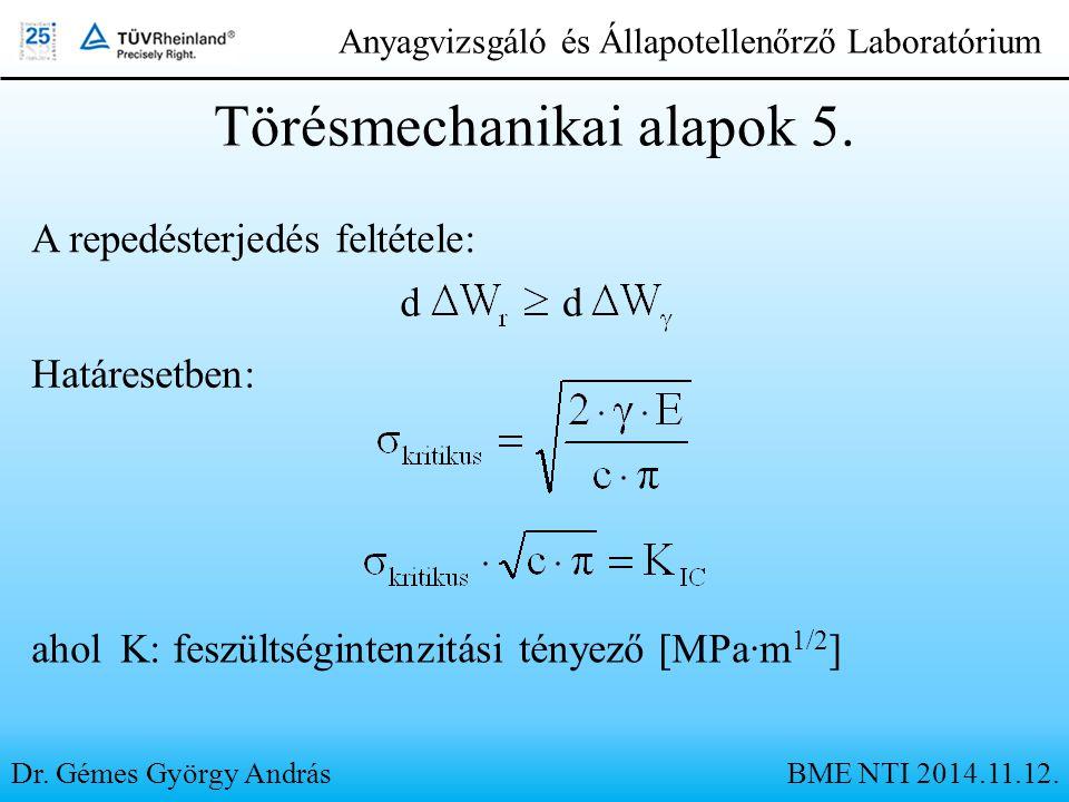 Törésmechanikai alapok 5.