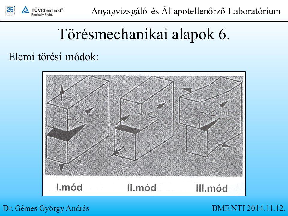 Törésmechanikai alapok 6.