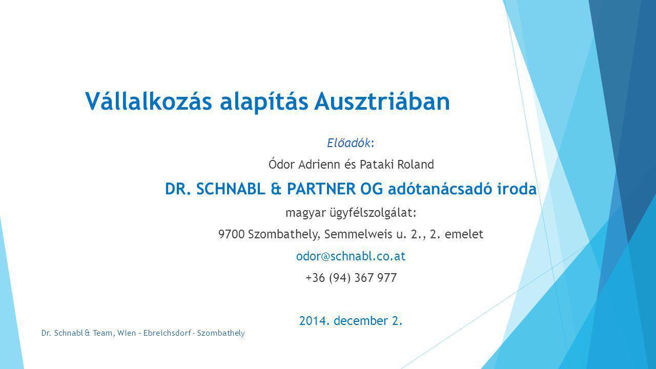 Vállalkozás alapítás Ausztriában