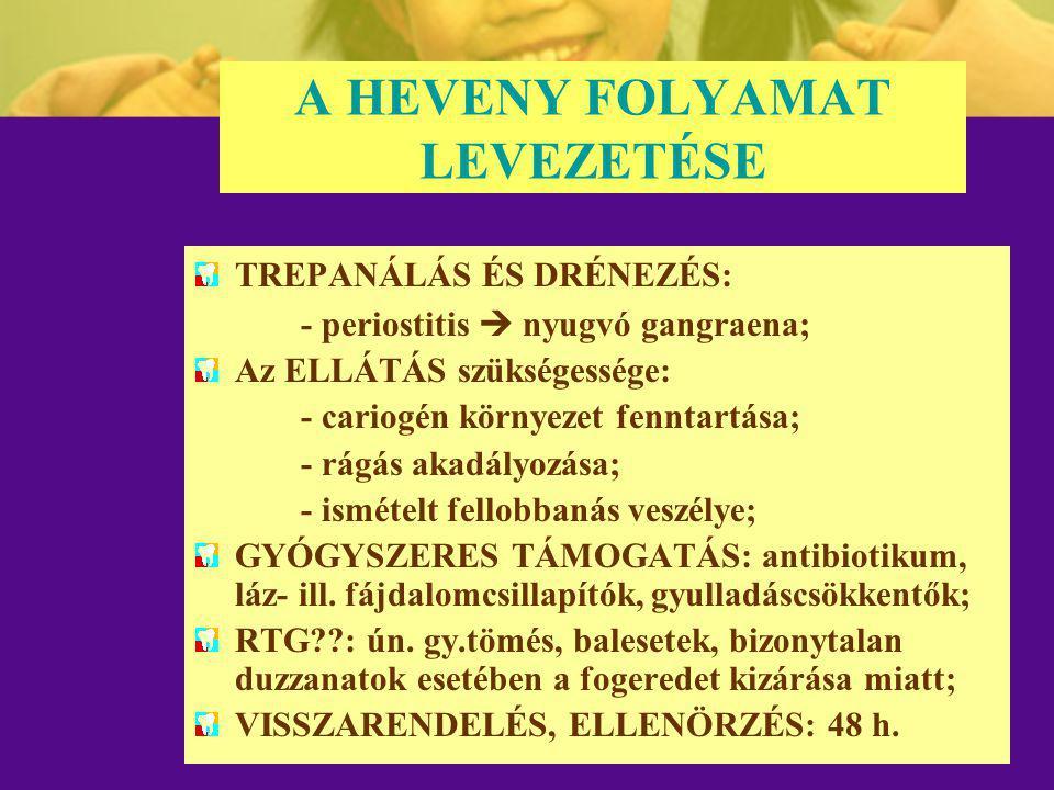 A HEVENY FOLYAMAT LEVEZETÉSE