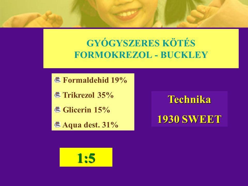 GYÓGYSZERES KÖTÉS FORMOKREZOL - BUCKLEY