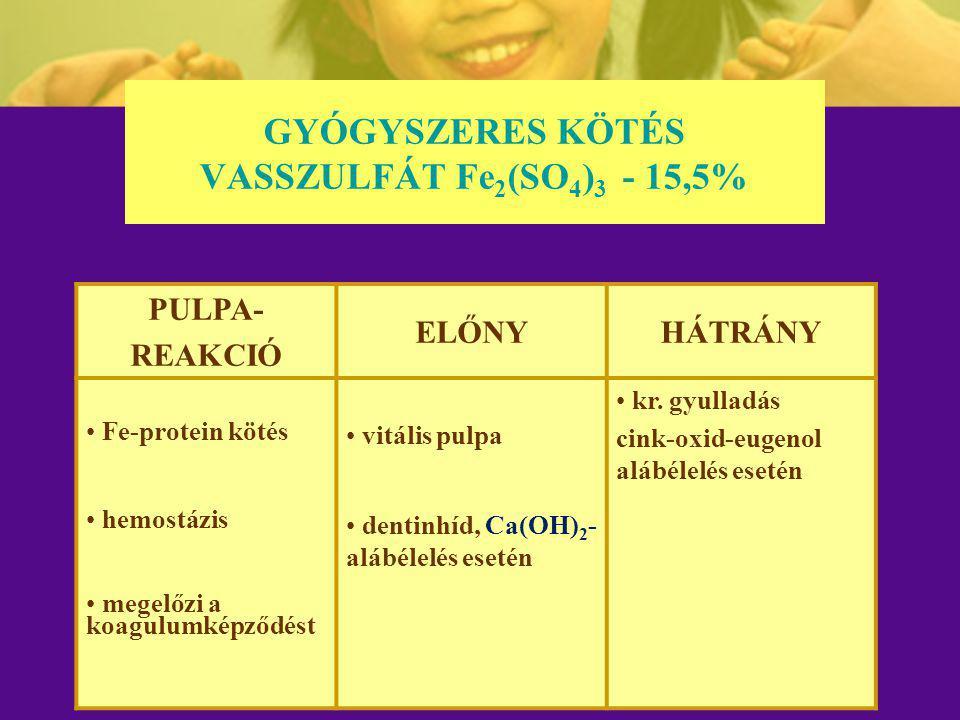 GYÓGYSZERES KÖTÉS VASSZULFÁT Fe2(SO4)3 - 15,5%