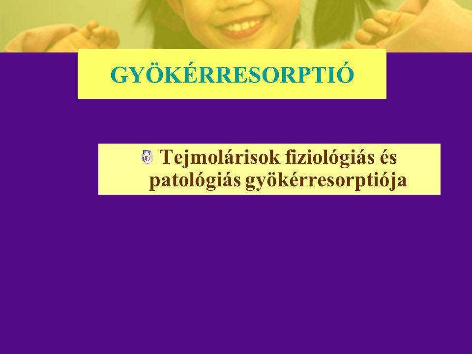 Tejmolárisok fiziológiás és patológiás gyökérresorptiója