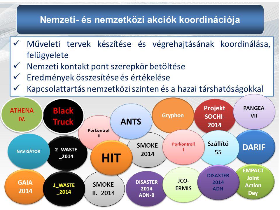 Nemzeti- és nemzetközi akciók koordinációja EMPACT Joint Action Day