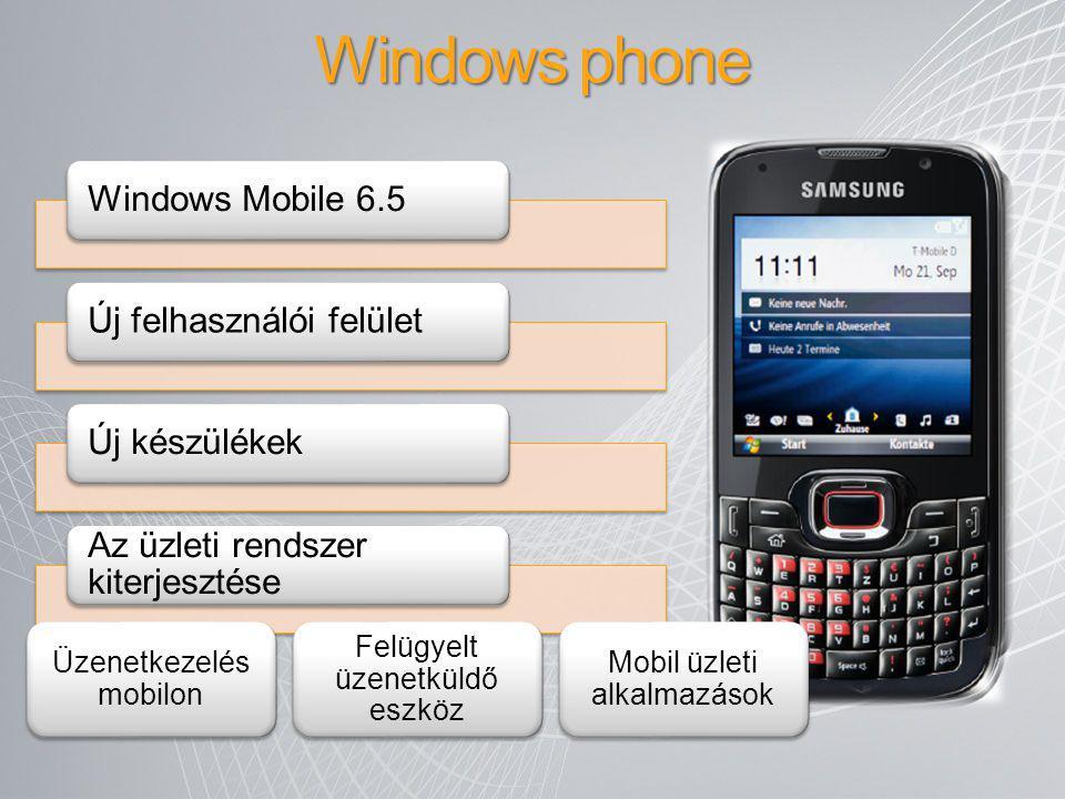 Windows phone Windows Mobile 6.5 Új felhasználói felület Új készülékek
