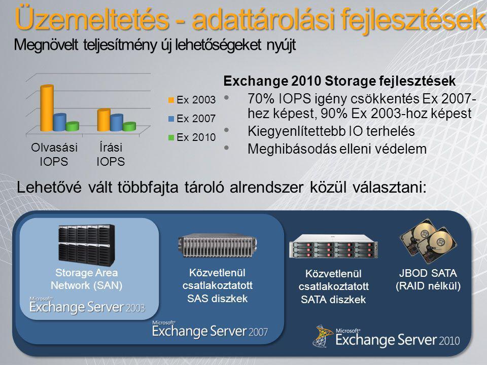 Üzemeltetés - adattárolási fejlesztések