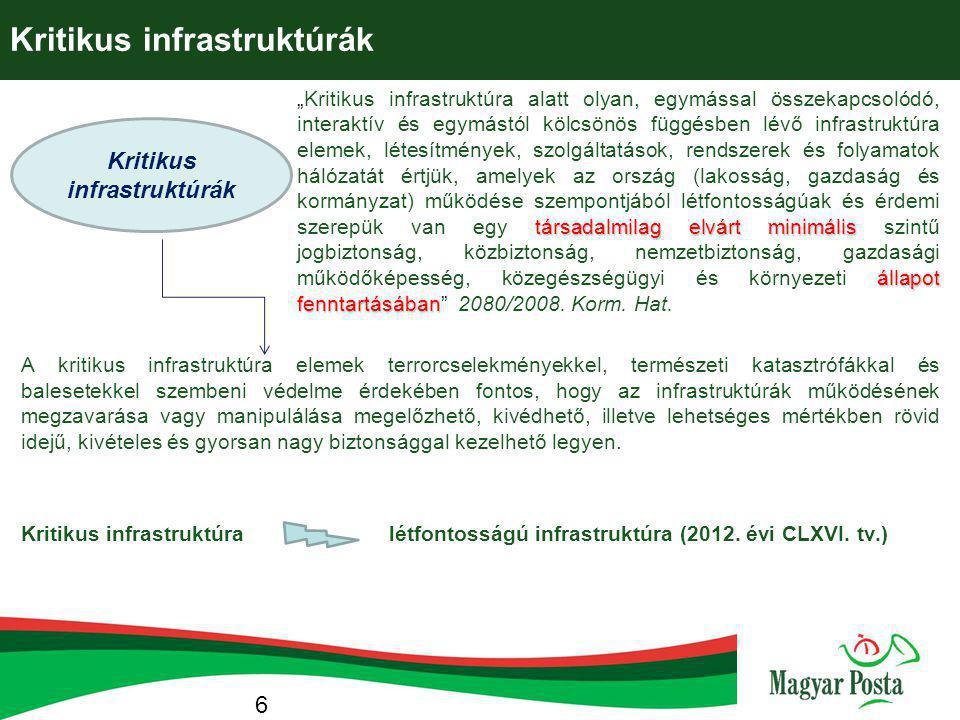 Kritikus infrastruktúrák