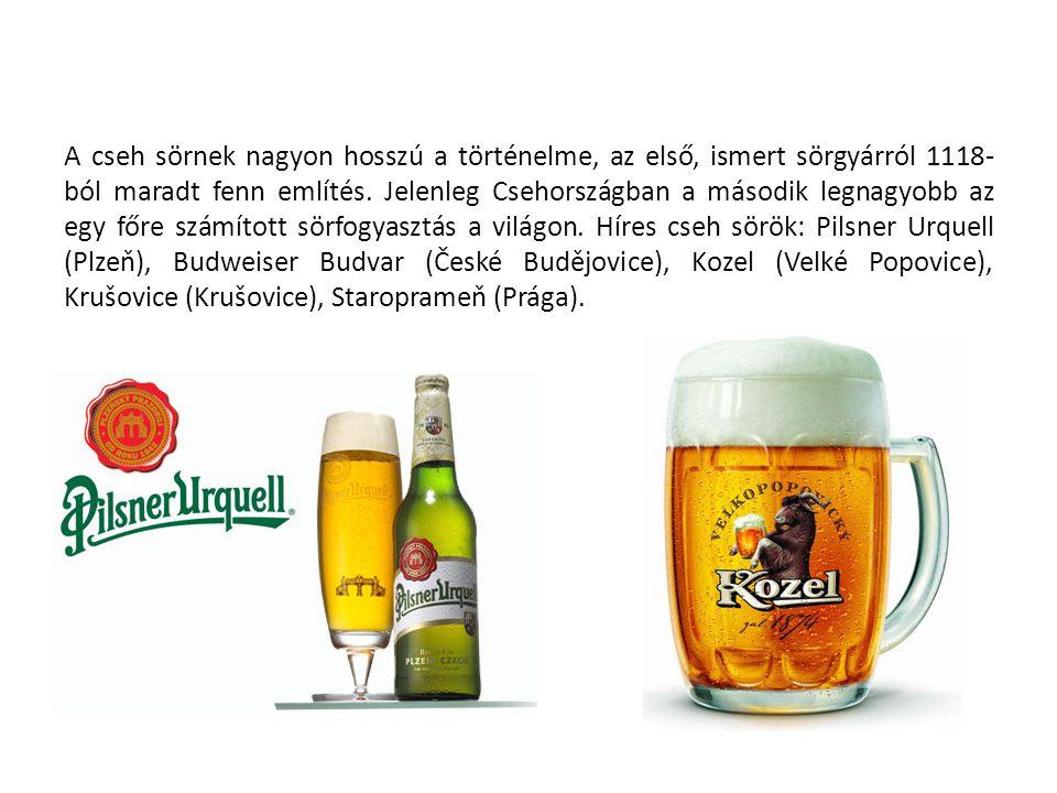 A cseh sörnek nagyon hosszú a történelme, az első, ismert sörgyárról 1118-ból maradt fenn említés.