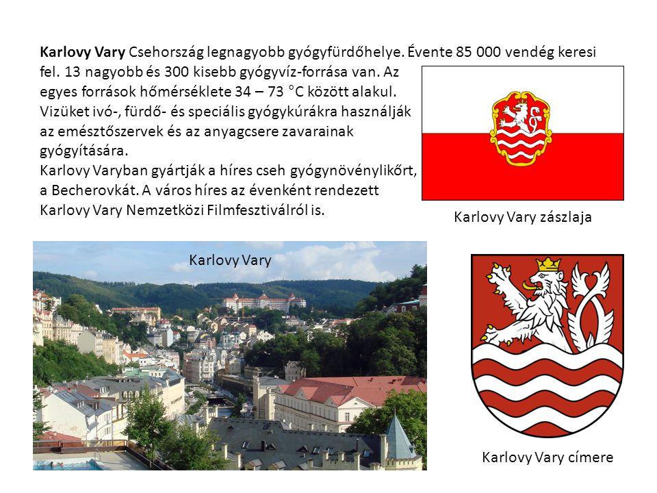Karlovy Vary Csehország legnagyobb gyógyfürdőhelye