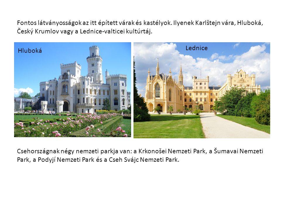 Fontos látványosságok az itt épített várak és kastélyok