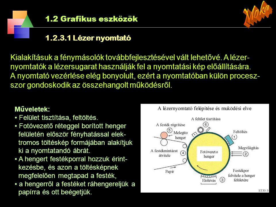 Moka 1.2 Grafikus eszközök 1.2.3.1 Lézer nyomtató