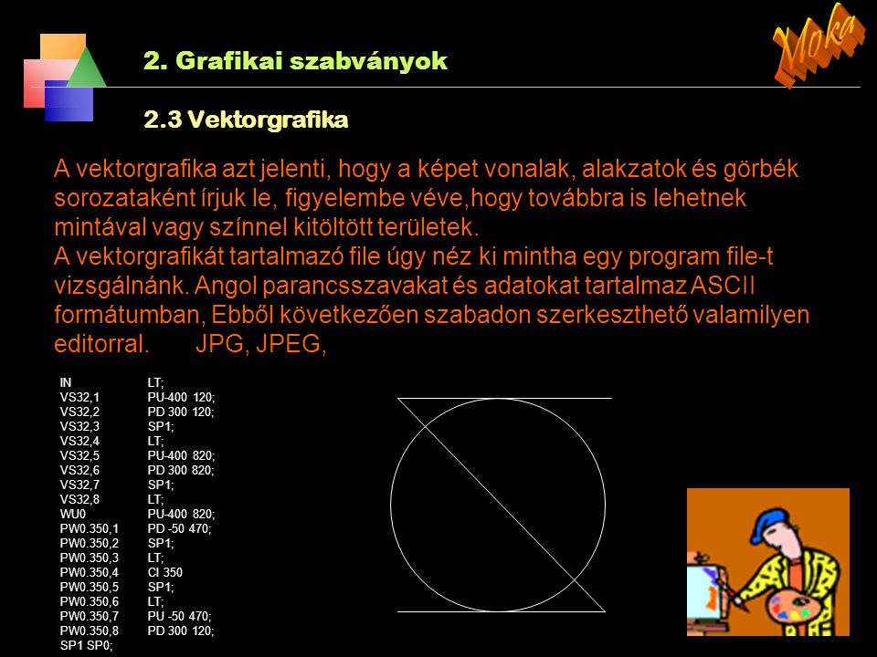 Moka 2. Grafikai szabványok 2.3 Vektorgrafika