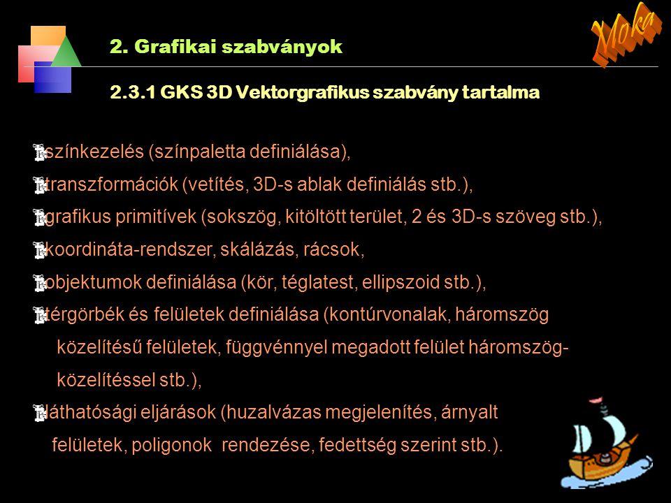 Moka 2. Grafikai szabványok
