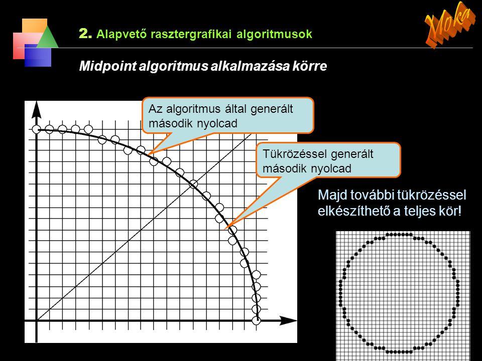 Moka 2. Alapvető rasztergrafikai algoritmusok