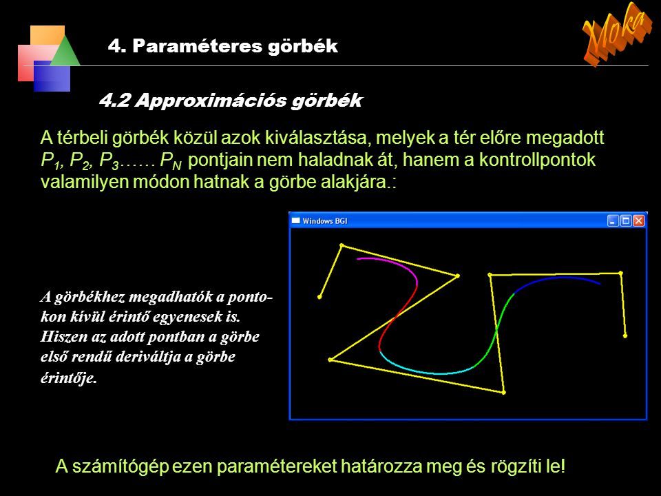 Moka 4. Paraméteres görbék 4.2 Approximációs görbék
