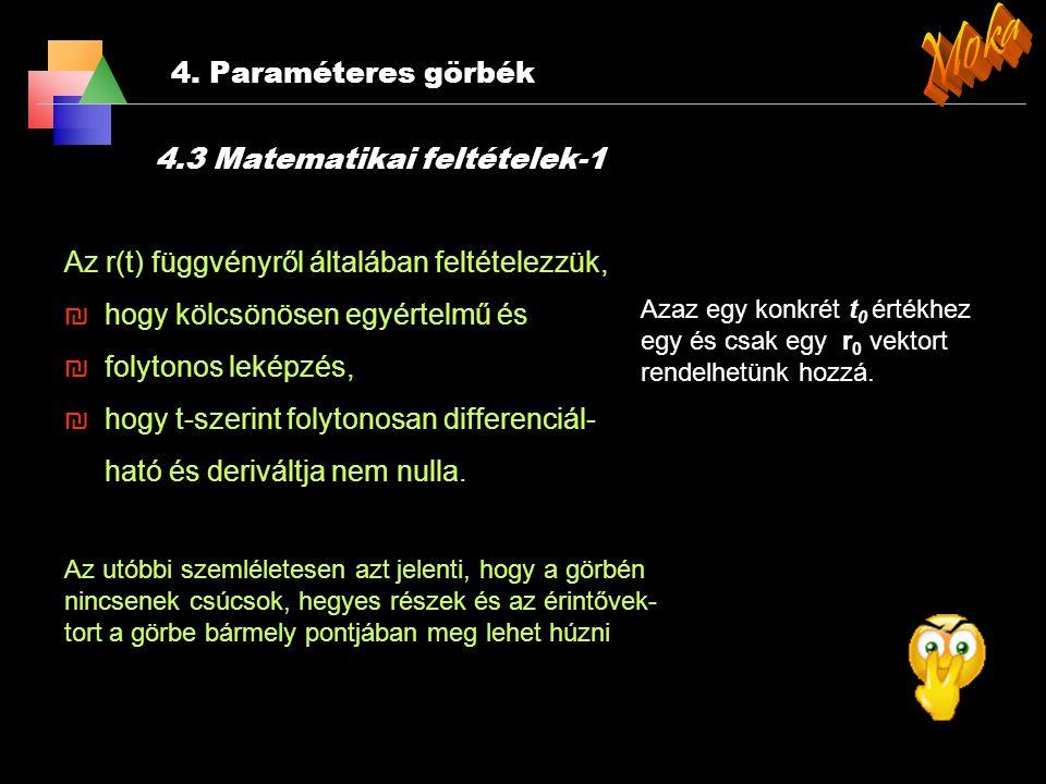 Moka 4. Paraméteres görbék 4.3 Matematikai feltételek-1