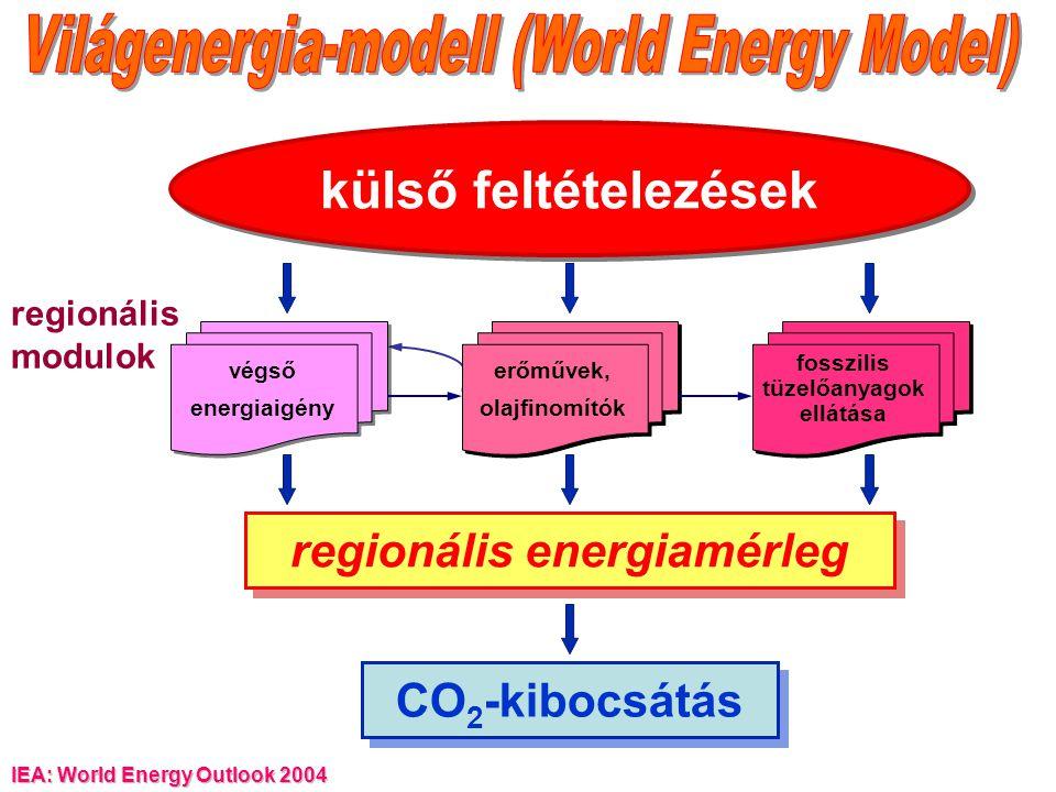 fosszilis tüzelőanyagok ellátása regionális energiamérleg