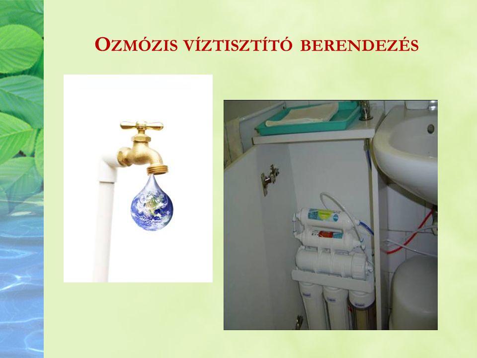 Ozmózis víztisztító berendezés