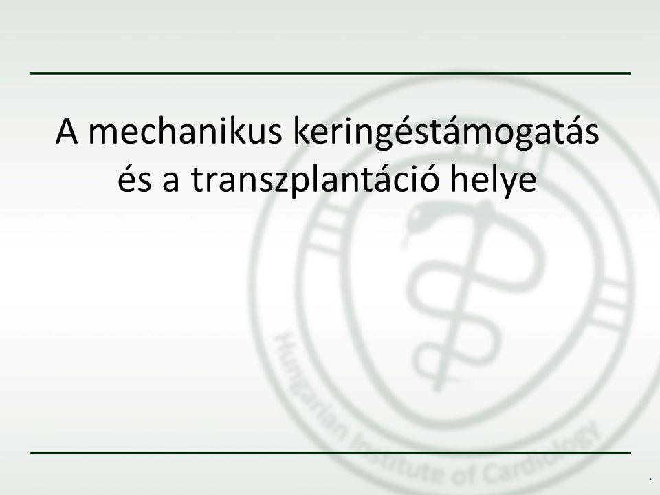 A mechanikus keringéstámogatás és a transzplantáció helye