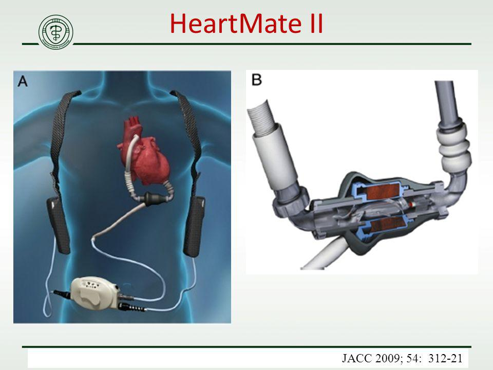 HeartMate II JACC 2009; 54: 312-21