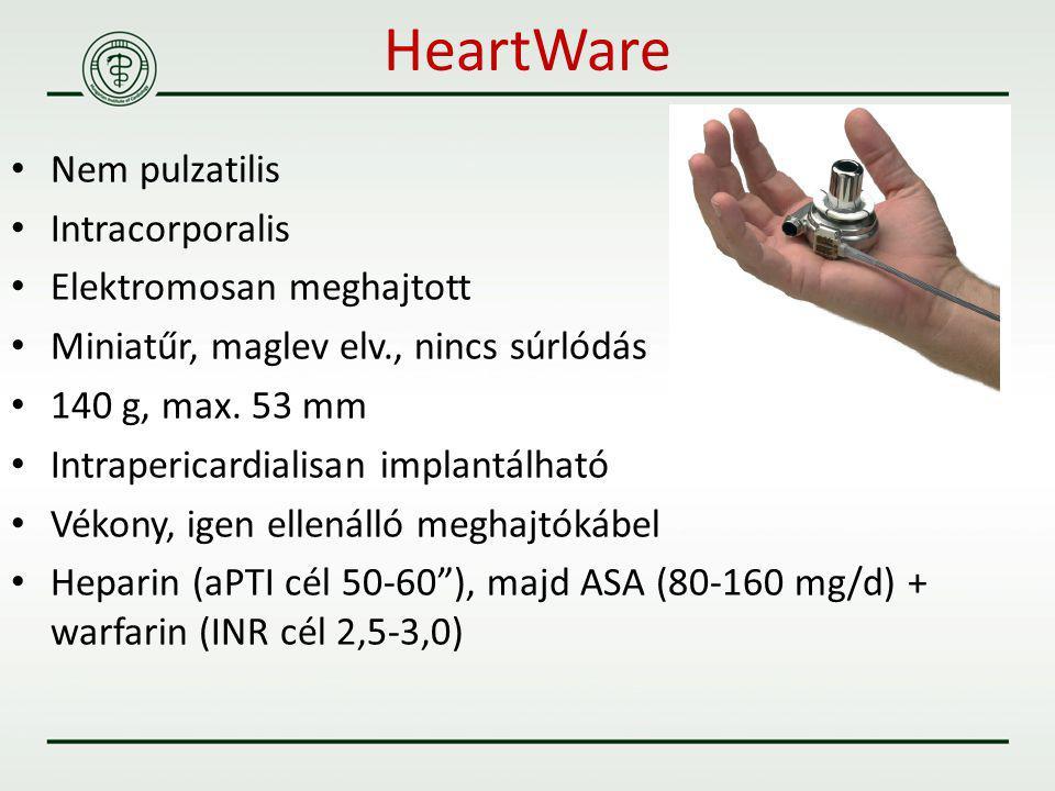 HeartWare Nem pulzatilis Intracorporalis Elektromosan meghajtott
