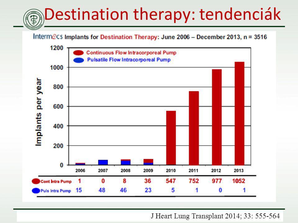 Destination therapy: tendenciák