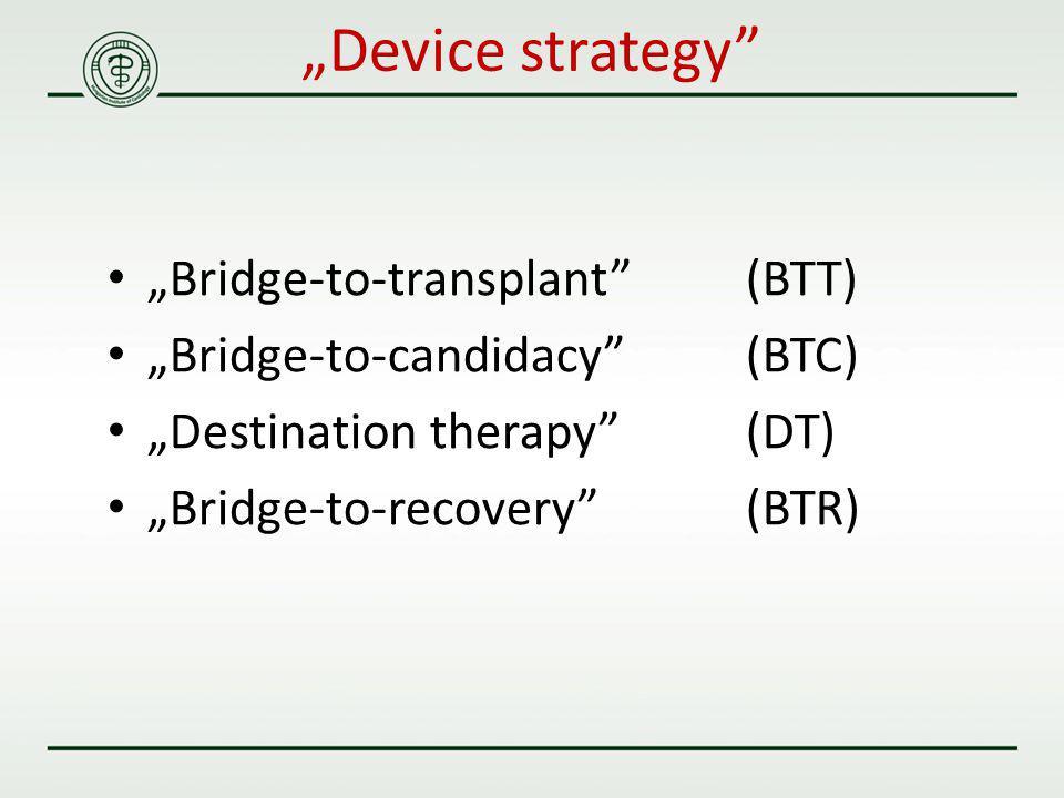 """Device strategy ""Bridge-to-transplant (BTT)"