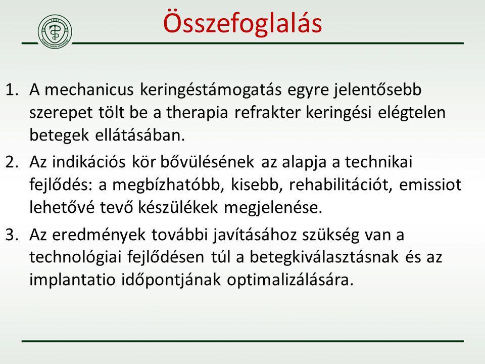 Összefoglalás A mechanicus keringéstámogatás egyre jelentősebb szerepet tölt be a therapia refrakter keringési elégtelen betegek ellátásában.