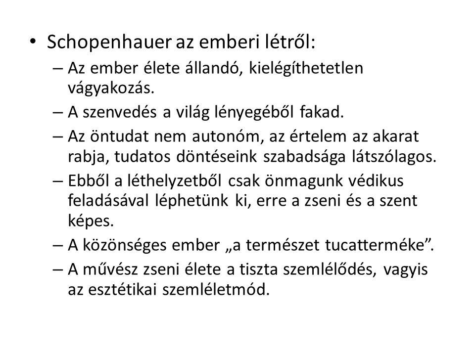 Schopenhauer az emberi létről: