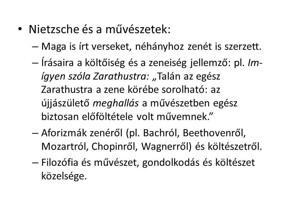 Nietzsche és a művészetek: