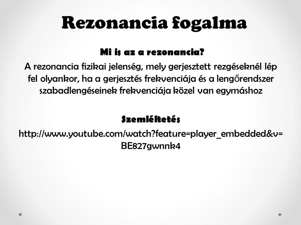 Rezonancia fogalma