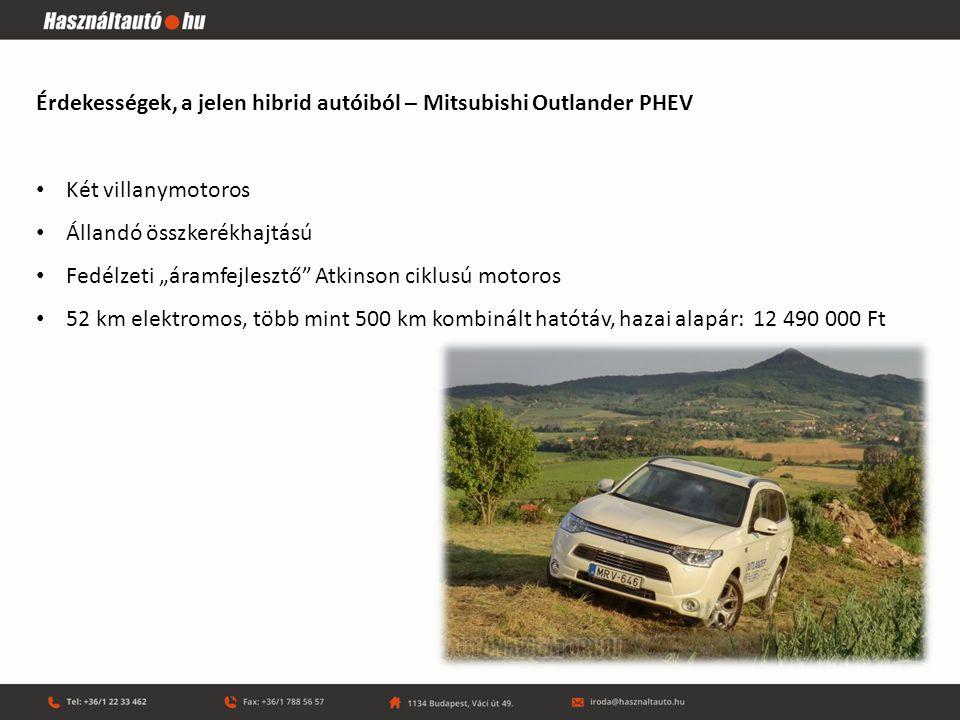 Érdekességek, a jelen hibrid autóiból – Mitsubishi Outlander PHEV