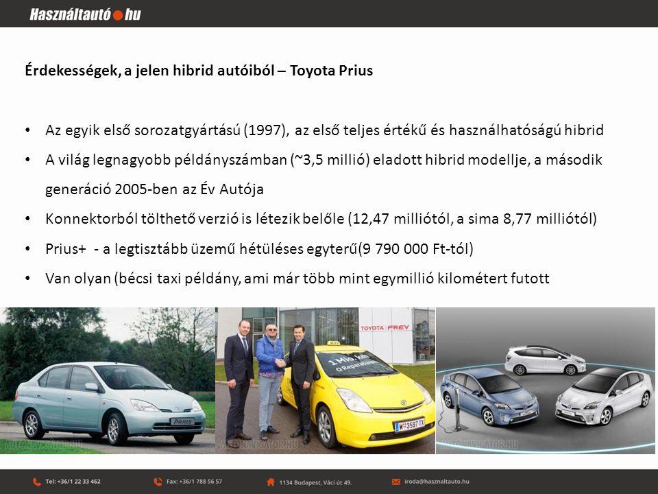 Érdekességek, a jelen hibrid autóiból – Toyota Prius
