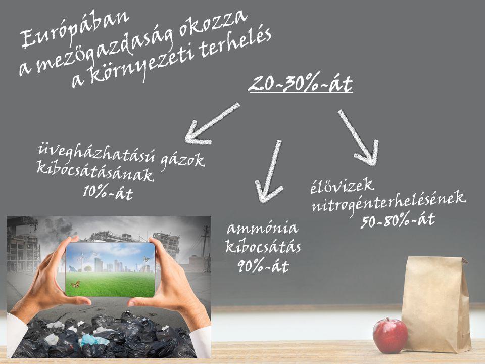 ammónia kibocsátás 90%-át