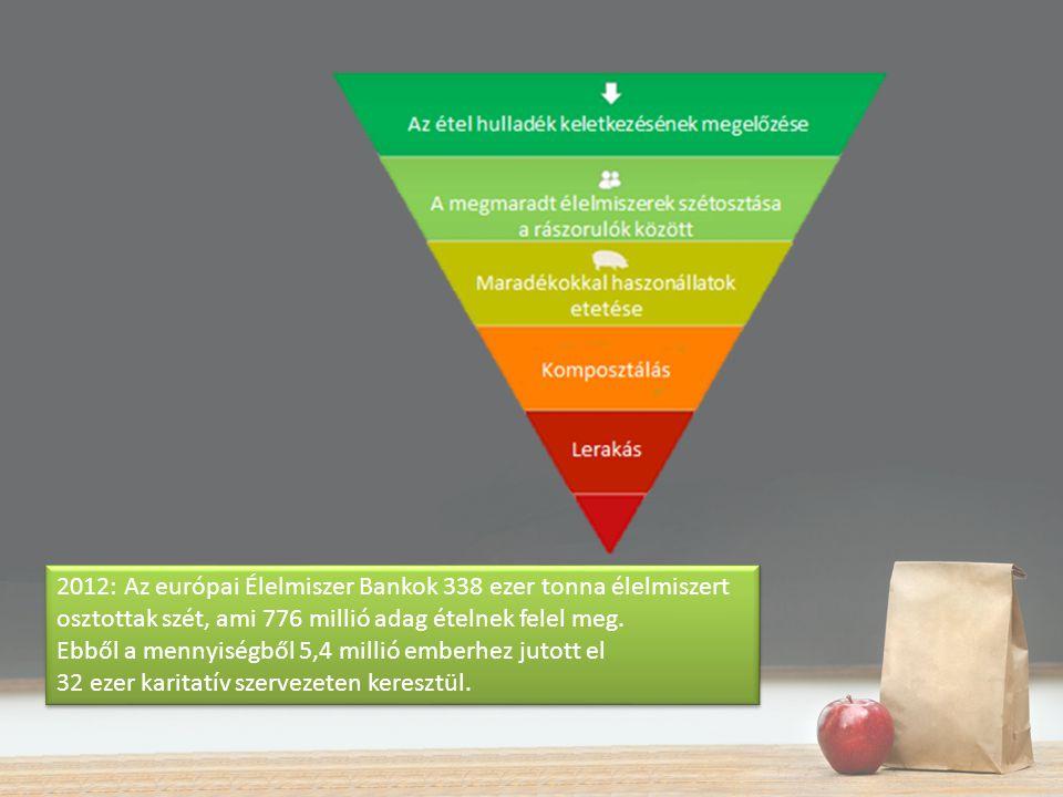 2012: Az európai Élelmiszer Bankok 338 ezer tonna élelmiszert