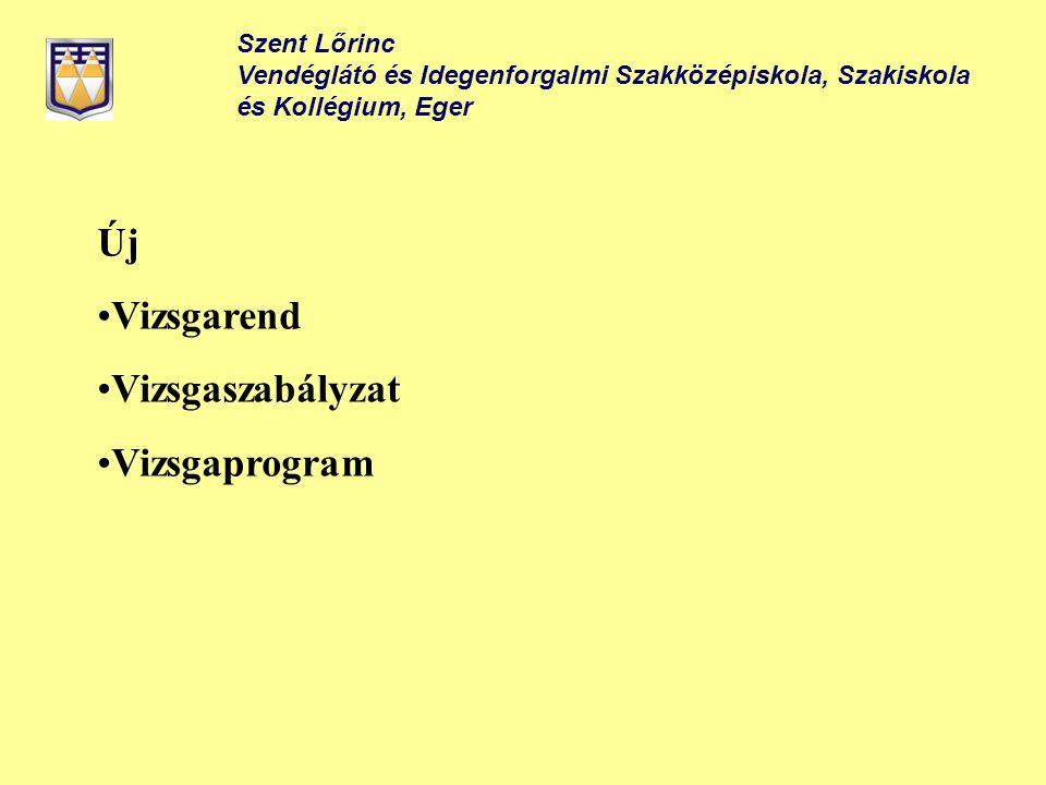 Új Vizsgarend Vizsgaszabályzat Vizsgaprogram Szent Lőrinc