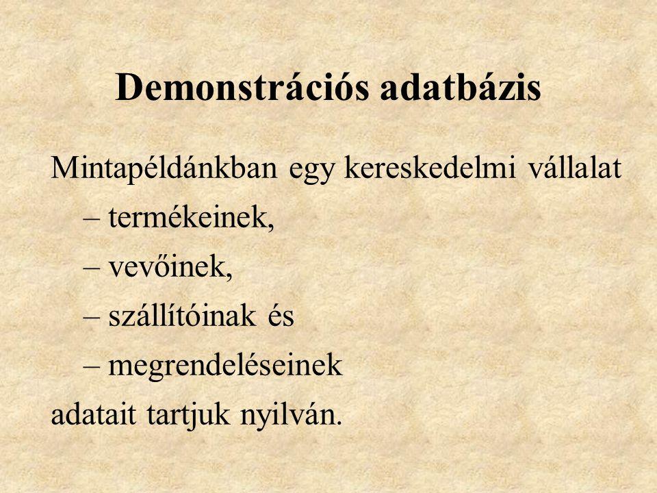 Demonstrációs adatbázis