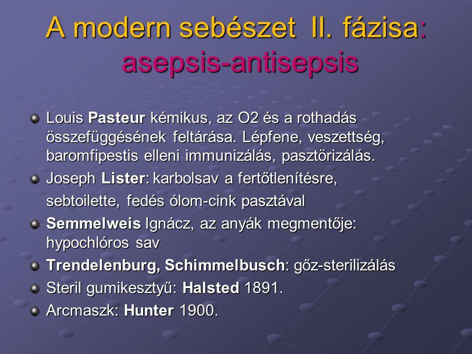 A modern sebészet II. fázisa: asepsis-antisepsis