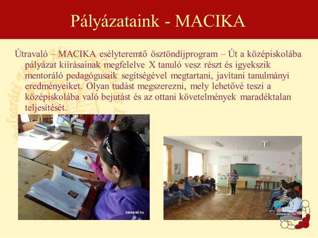Pályázataink - MACIKA