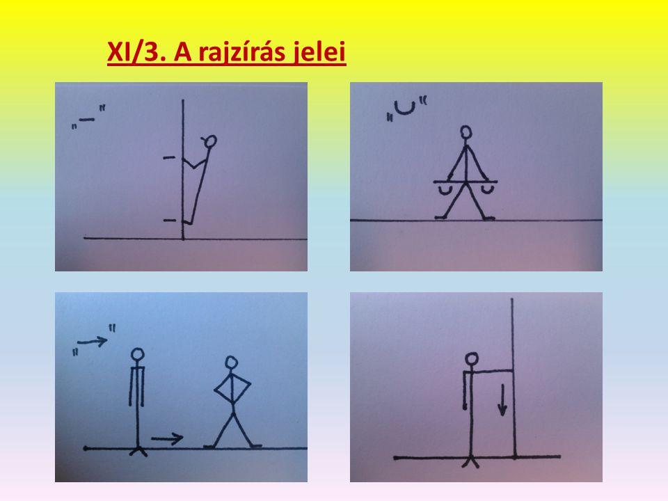 XI/3. A rajzírás jelei
