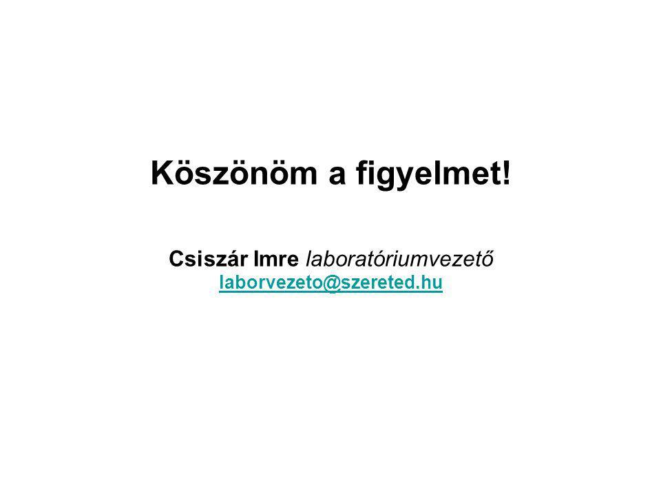Csiszár Imre laboratóriumvezető