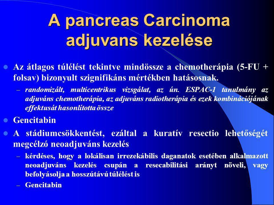 A pancreas Carcinoma adjuvans kezelése