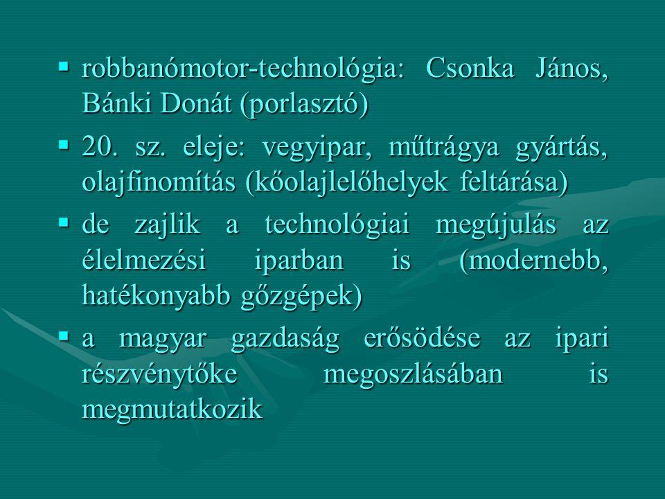 robbanómotor-technológia: Csonka János, Bánki Donát (porlasztó)