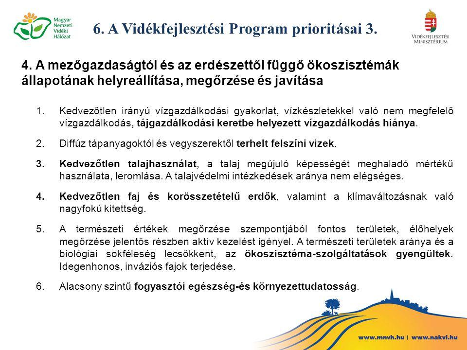 6. A Vidékfejlesztési Program prioritásai 3.