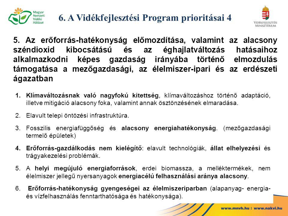 6. A Vidékfejlesztési Program prioritásai 4