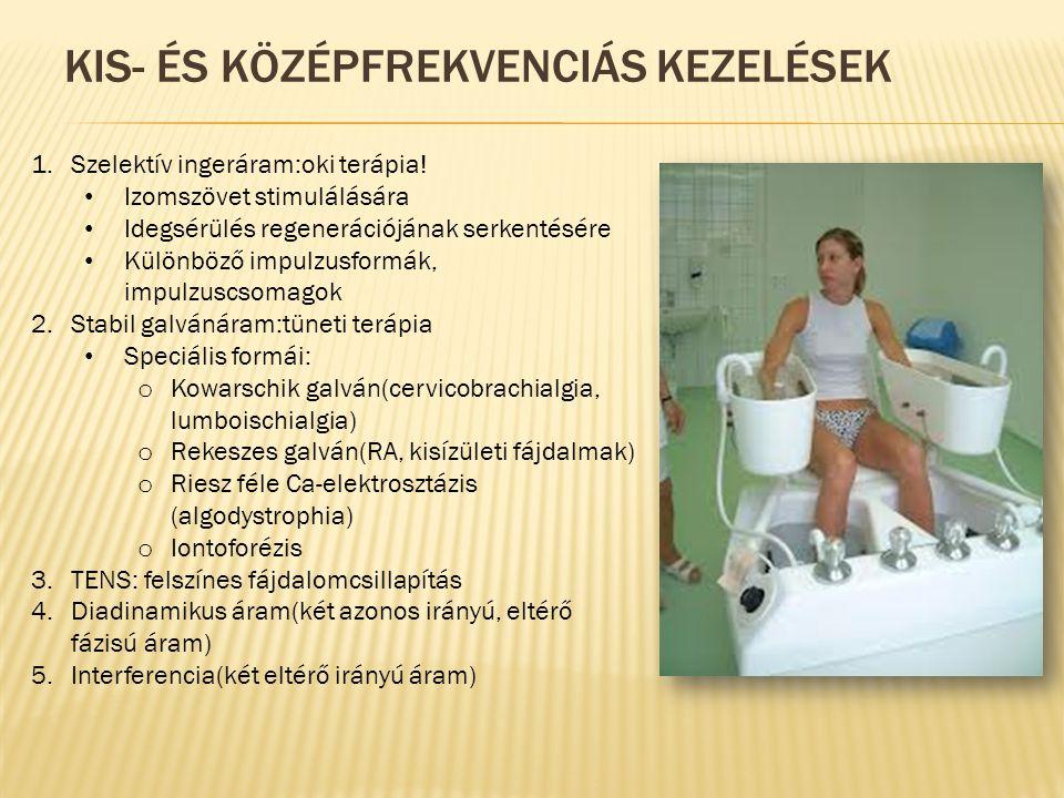 Kis- és középfrekvenciás kezelések