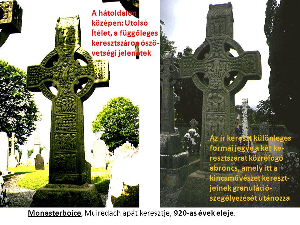 A hátoldalon középen: Utolsó Ítélet, a függőleges keresztszáron ószö- vetségi jelenetek